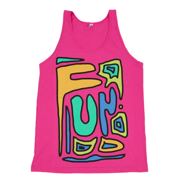 Fuscia 90s Shapes Tank
