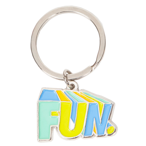 Color Blocked Enamel Keychain