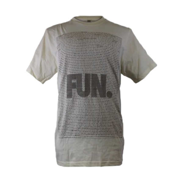 Grey Lyric Block Slim-Fit T-Shirt