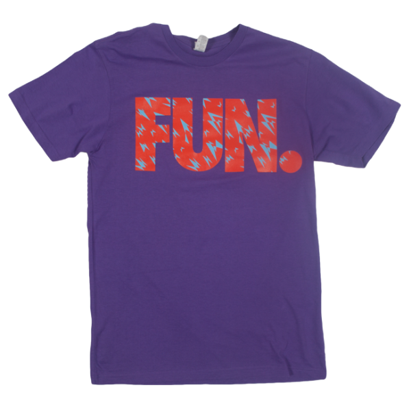 FUN. Purple Shard Pattern T-Shirt