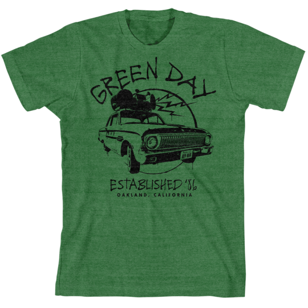 GREEN DAY Retro 86 Car T-Shirt
