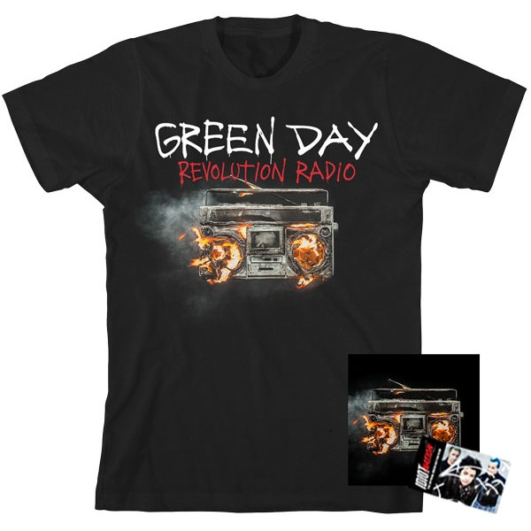 GREEN DAY Revolution Radio T-Shirt + CD + Fan Club