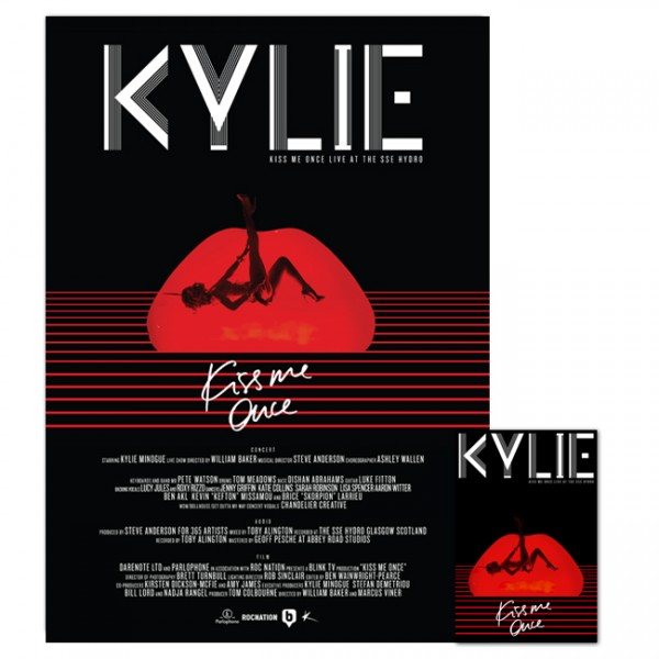 Kylie - Kiss Me Once Live At The SSE Hydro DVD + 2CD plus Live Poster
