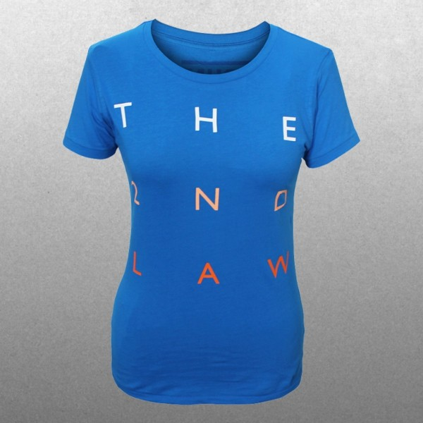Ladies The 2nd Law Type Electric Blue T-shirt