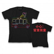 Blur Ice Cream Van Black T-Shirt