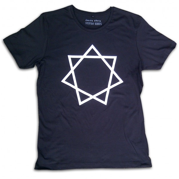 Heptagram Mens Black T-shirt