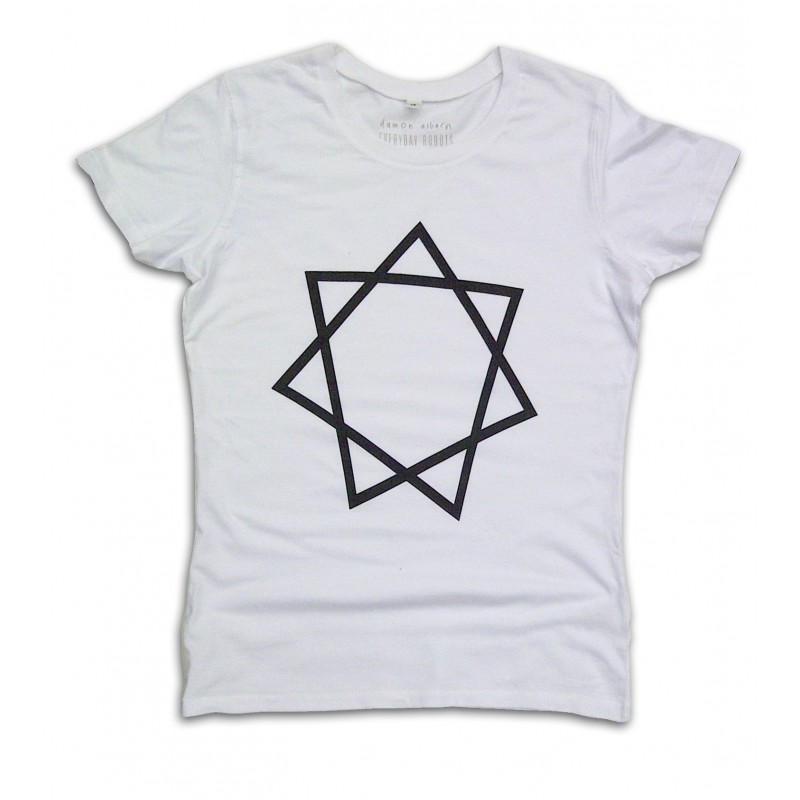 Heptagram Ladies White T-shirt