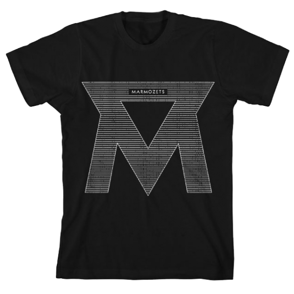 Black Lined M T-Shirt