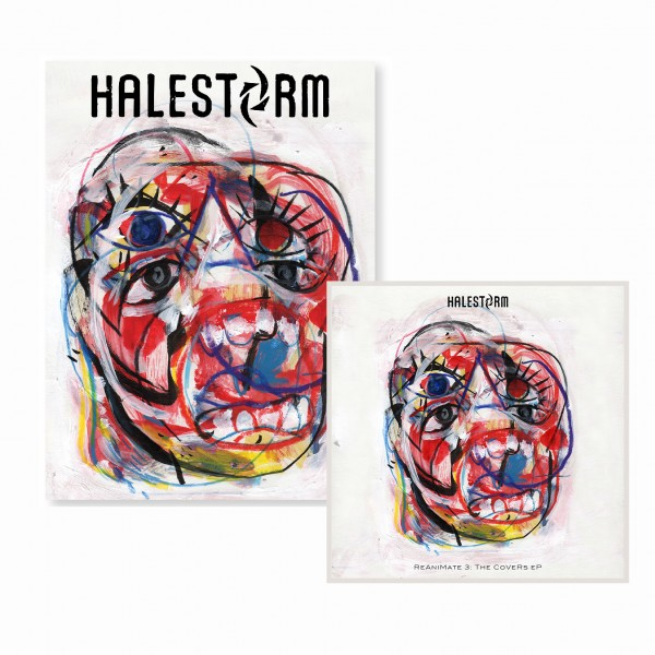 Halestorm ReAniMate 3.0: The CoVeRs eP CD + Poster Bundle