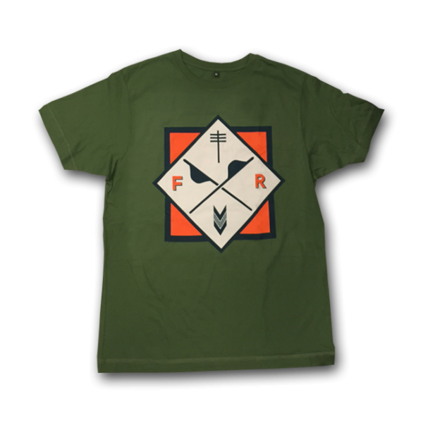 Frightened Rabbit Green Crest T-Shirt