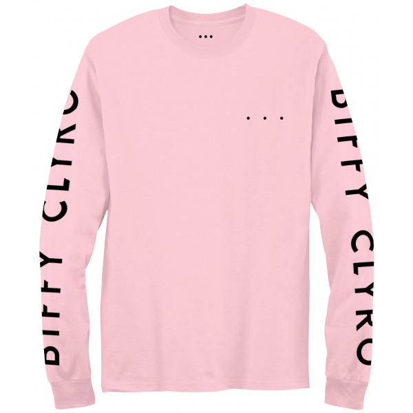 Ellipsis Long Sleeve Pink T-Shirt (front)