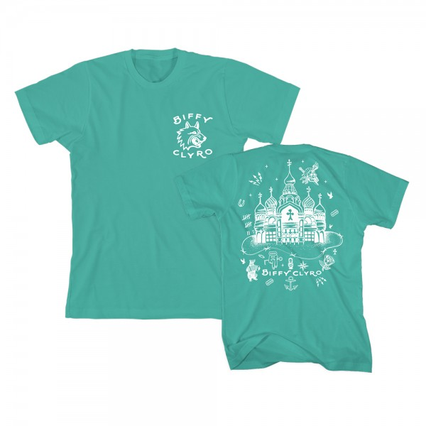 Russian Cathedral Teal T-Shirt - Biffy Clyro Store