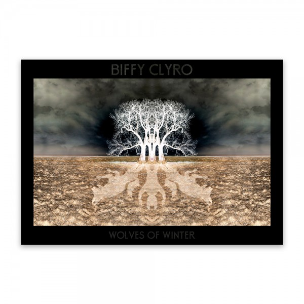 Biffy Clyro & Chaim Collaboration – Wolves Of Winter Signed Poster