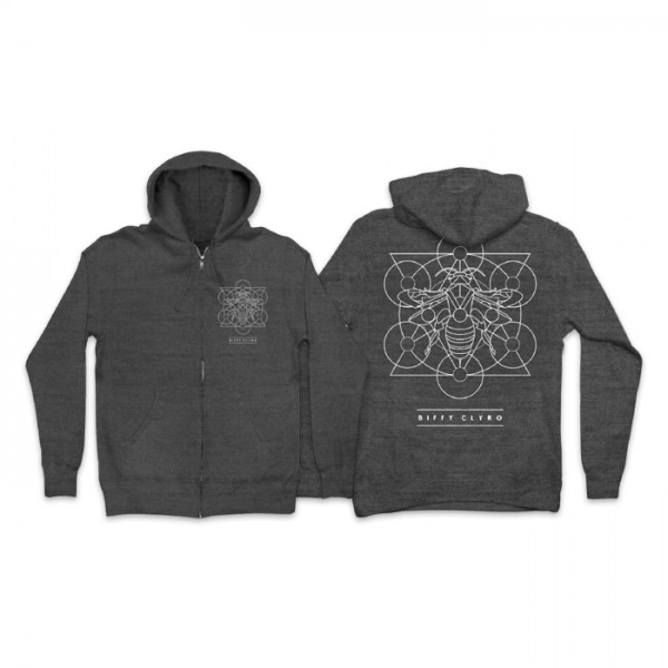 Insect Zip Hoodie (front/back)