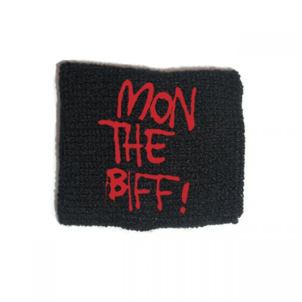 Black Mon The Biff Embroidered Sweatband