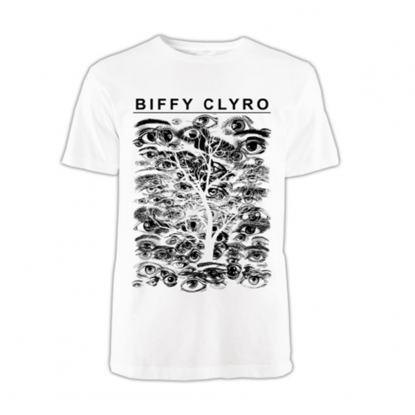 Biffy Clyro White Eyes T-Shirt