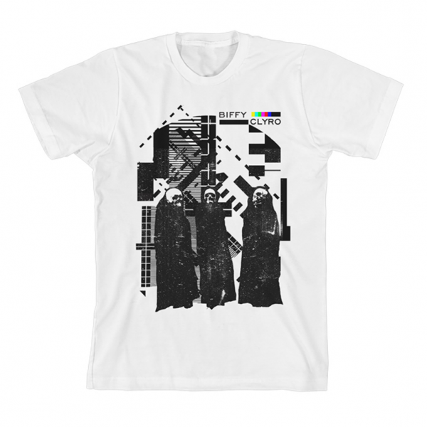 Biffy Clyro Test Card White T-shirt