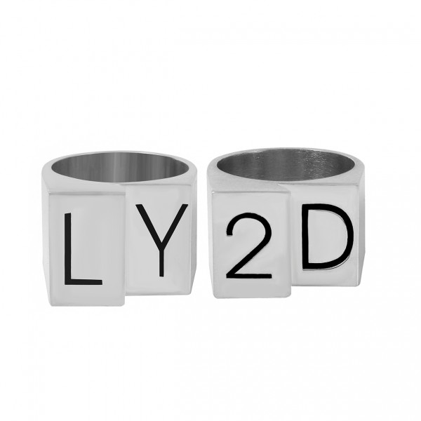 LY2D Sterling Silver ring set