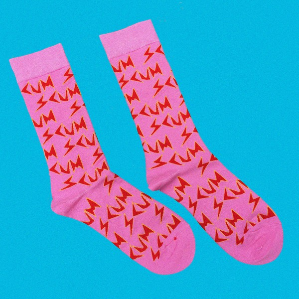 SCUM All-Over Pink Socks
