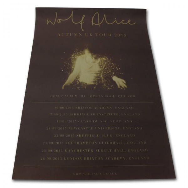 Wolf Alice | UK Tour Poster, September 2015 | European Store