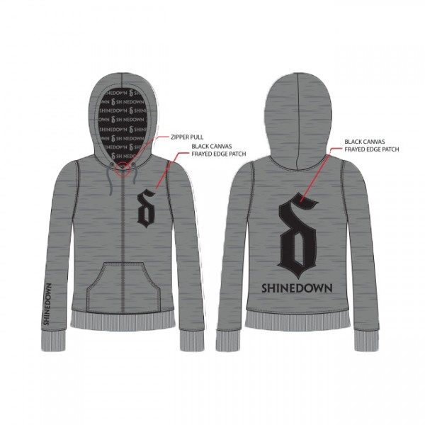 Custom Carnival Heather Grey Zip Hoodie