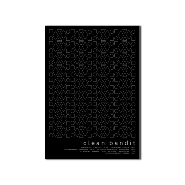 Clean Bandit CB 2015 Tour Screenprint
