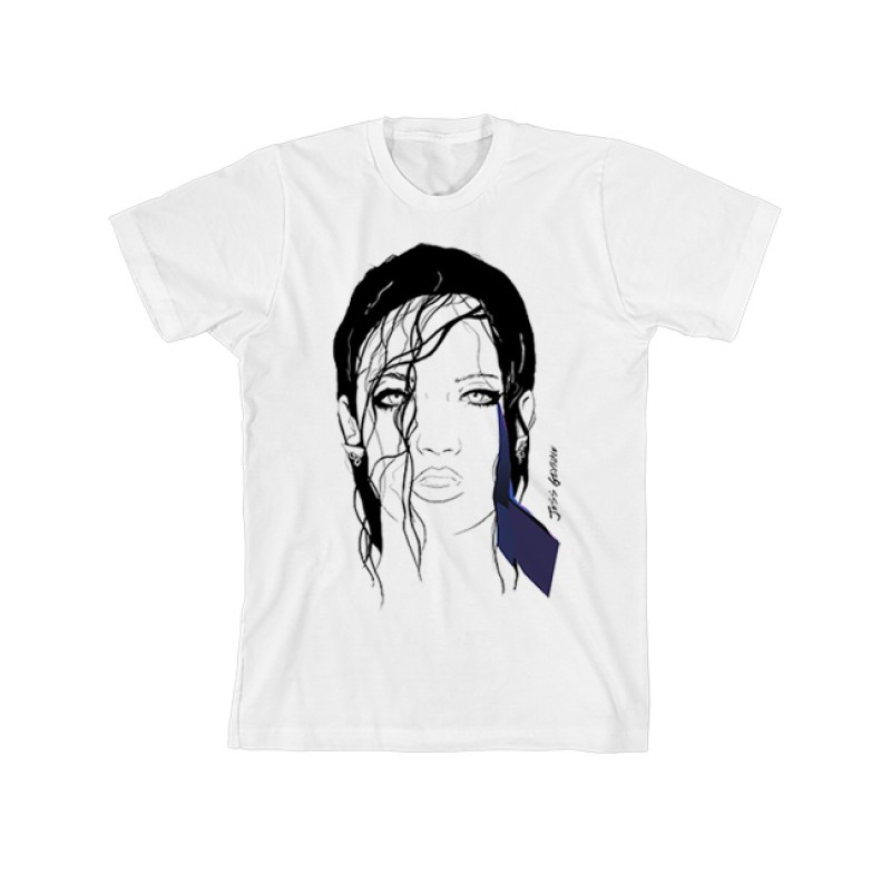 White Illustrated Unisex T-shirt