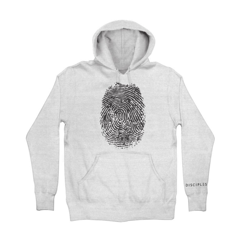 Disciples Thumbprint White Hoodie - Disciples Merchandise