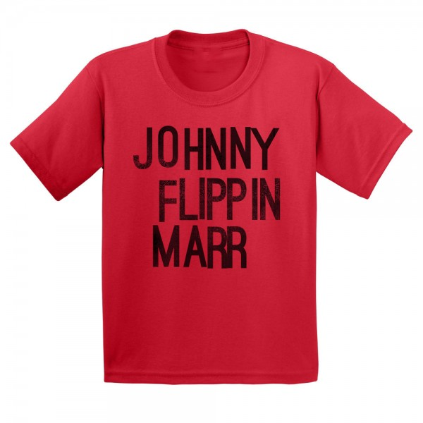 Red Johnny Flippin Marr Kids T-shirt