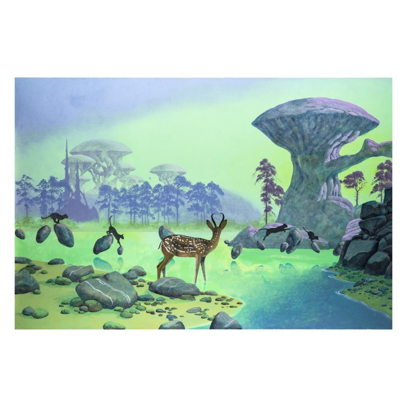 "Roger Dean ""The Crossing"" Signed Print"