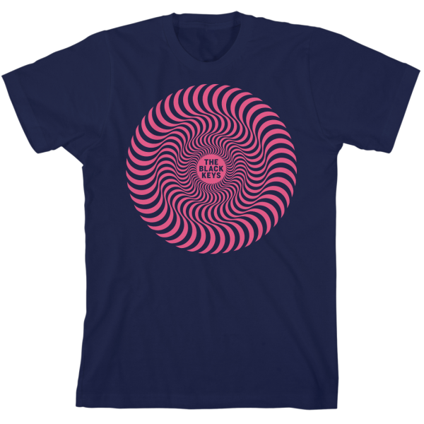 Navy Radiating Circles T-Shirt