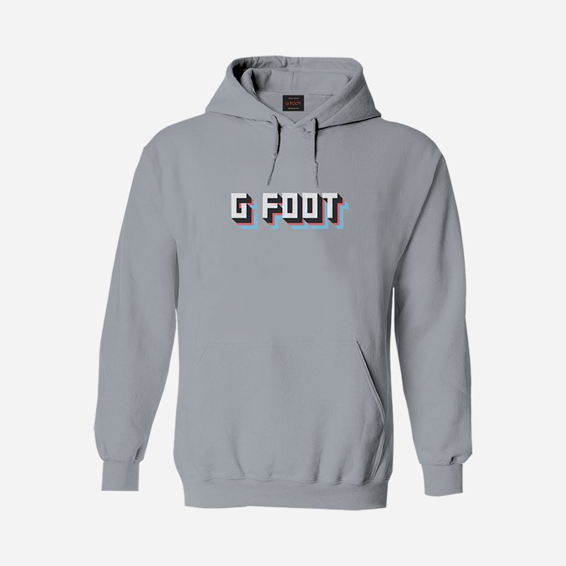 G Foot Stacked Grey Hoodie