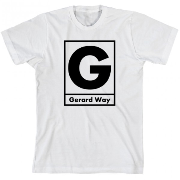 White Gerard Way Box B T-Shirt