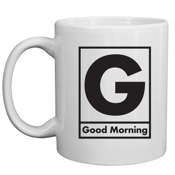 White Morning Mug