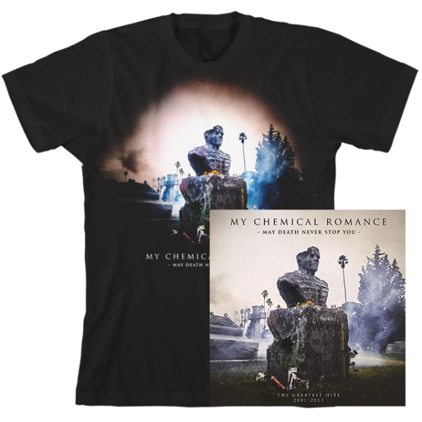 MCR MAY DEATH NEVER STOP YOU LIMITED EDITION COLOURED VINYL + T-SHIRT