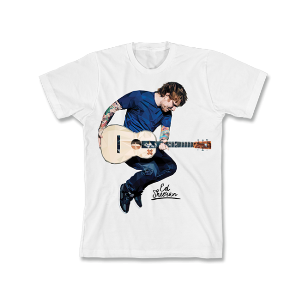 White Ed Guitar T-shirt