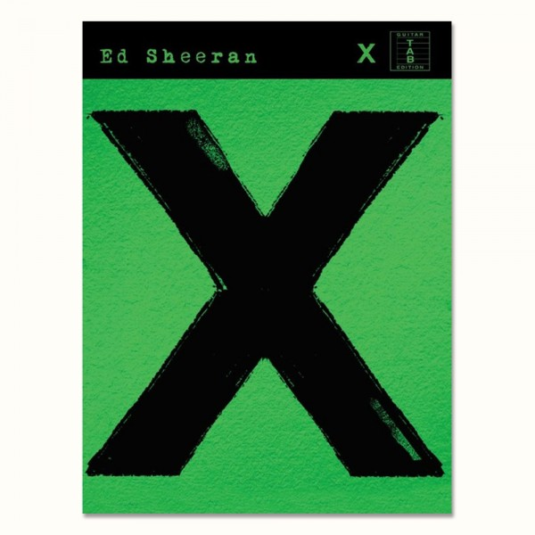 X Guitar Tab and Lyrics Songbook (front cover)
