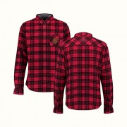 Plaid Flannel Button Down Shirt (front/back)