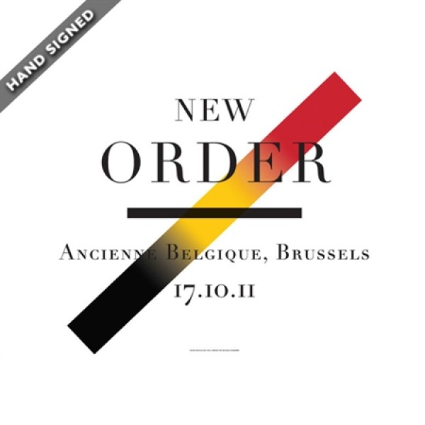 Limited Edition Brussels Print designed and hand signed by Peter Saville