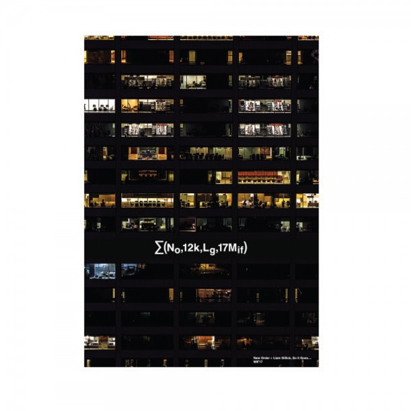 Office Block Poster - Liam Gillick & New Order